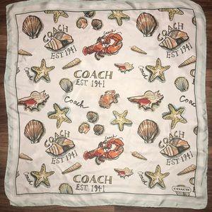 Coach scarf sea shells lobsters